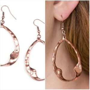 TWISTED ME ROUND COPPER EARRINGS